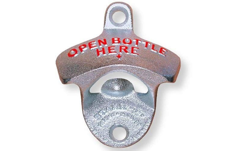 "Original STARR-X Wandflaschenöffner ""OPEN BOTTLE HERE"""