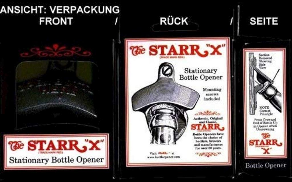 "Original STARR-X Wandflaschenöffner ""OPEN BOTTLE HERE""  Image 4 from 4"