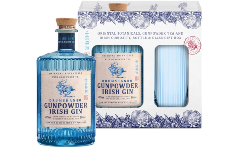 Gunpowder Irish Gin mit Glas